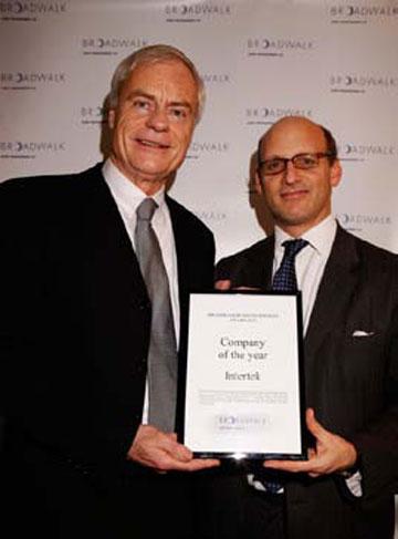 Company of the Year Award Presentation 2010